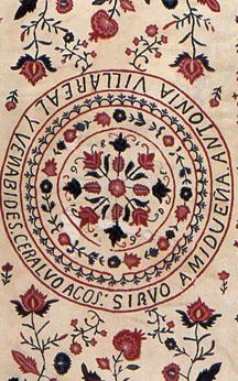 Mid Nineteenth Century Embroidery of Pomegranates (Mex).