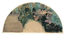 Fan with Dancers 1879 .From the Tacoma Art Museum. Priv Collection.
