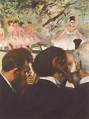 Musicians in the Orchestra a Wiki image- Degas