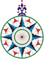 A Compass rose for St Jordi's Day