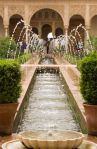 Fountain in the generalife Palace, Alhambra.