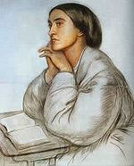 Image of Christina Rossetti by DG Rossetti.