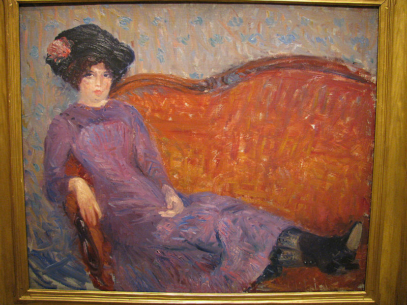 The Purple Dress , by William Glackens