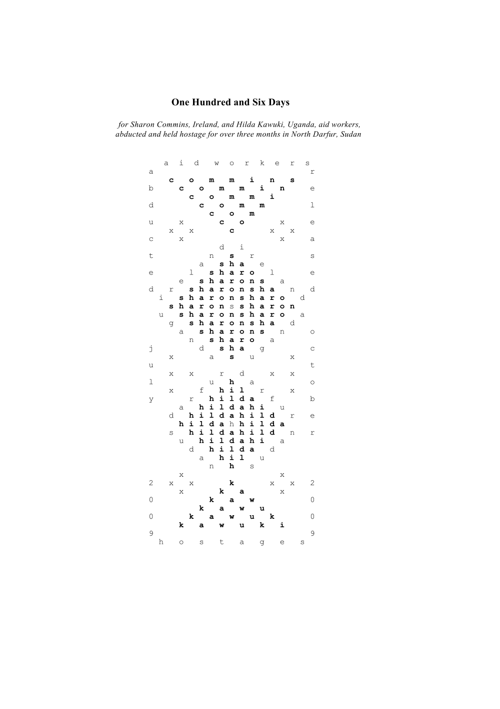 """The Dream Clock"""" and other visual poetry by Susan Connolly ..."""